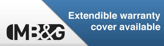 Extendible Warranty Cover Available